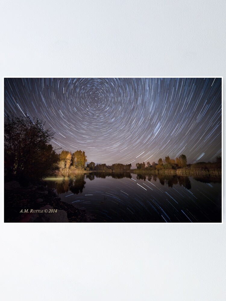 Alternate view of Startrails over Jackson Hole's Newest Park Poster