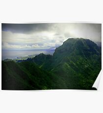 Green Giants - Napali Coast - Kauai  Poster
