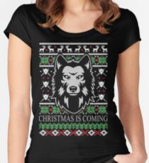 Christmas Is Coming  Women's Fitted Scoop T-Shirt