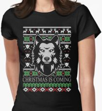 Christmas Is Coming  Women's Fitted T-Shirt