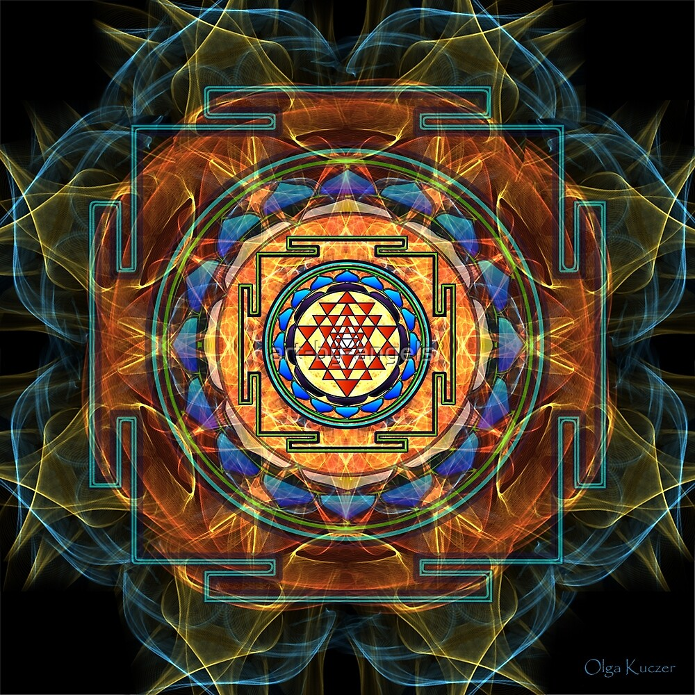 Quot The Sri Yantra Sacred Geometry Quot By Olga Kuczer Redbubble