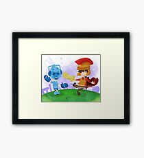 Doctor Who babies - inspired by Rory and the Cybermen Framed Print
