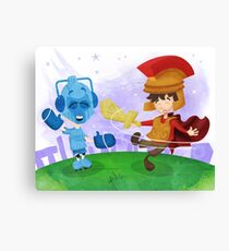 Doctor Who babies - inspired by Rory and the Cybermen Canvas Print