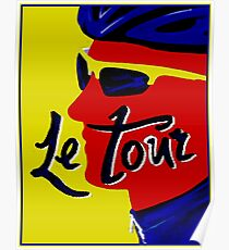 TOUR DE FRANCE; Vintage Bicycle Racing Print Poster