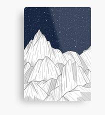 Die weißen Berge unter den Sternen Metalldruck