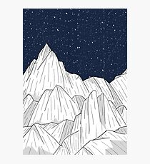 The white mountains under the stars Photographic Print