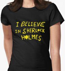 I believe in sherlock holmes Womens Fitted T-Shirt