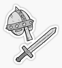 cartoon medieval helmet Sticker
