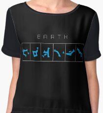 Earth chevron destination symbols Women's Chiffon Top