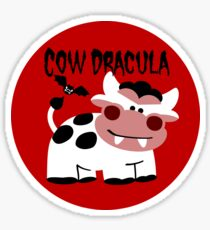 Cow Dracula Sticker