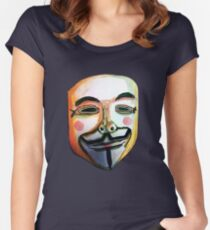 Guy Fawkes Camiseta entallada de cuello redondo