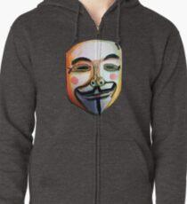 Guy Fawkes Sudadera con capucha y cremallera