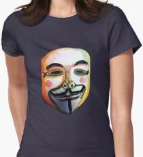 Guy Fawkes Camiseta entallada para mujer