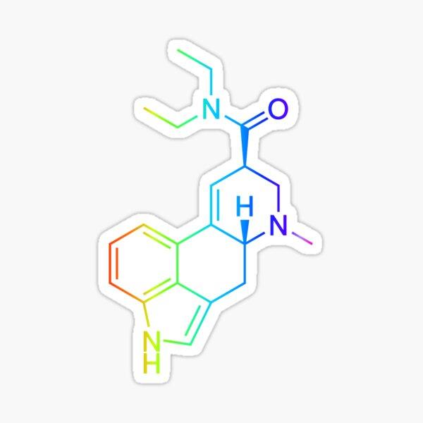 Molécula de LSD - Psicodélico Pegatina