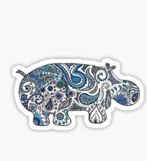 Hippo Zen Doodle Sticker