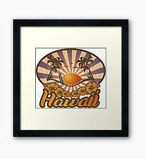 Hawaii Paradise Surf Beach Framed Print