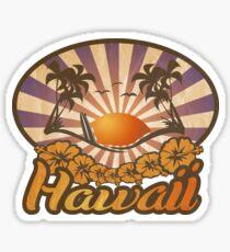 Hawaii Paradise Surf Beach Sticker