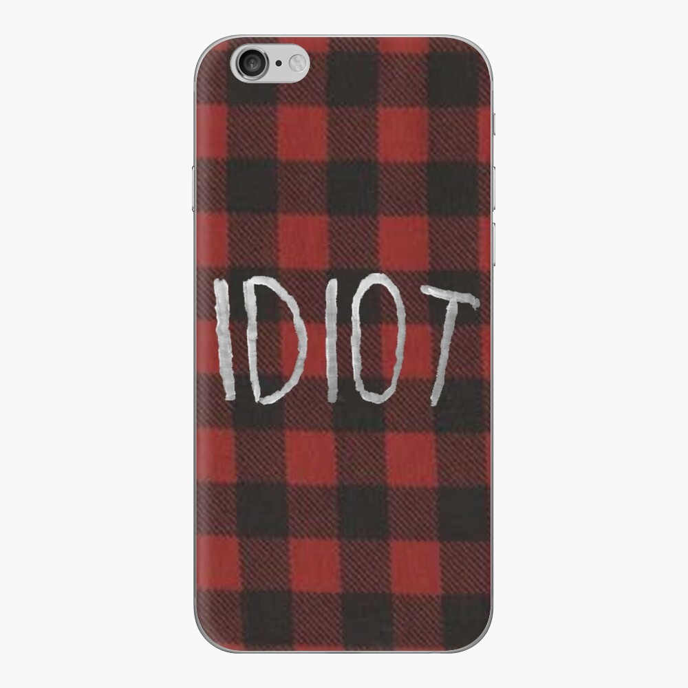 IDIOT (roter Flannel) iPhone-Hüllen & Cover