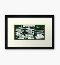 Franchise Plan Framed Print