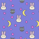 Sailor Moon R inspired Chibusa Luna-P Bedspread Blanket Print SuperS Version by AdrienneOrpheus