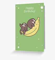 Alles Gute zum Geburtstag Riesige Bananen Faultiere Grußkarte
