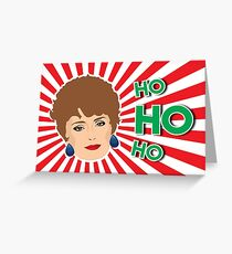Blanche Devereaux - The Golden Girls Christmas Card Greeting Card