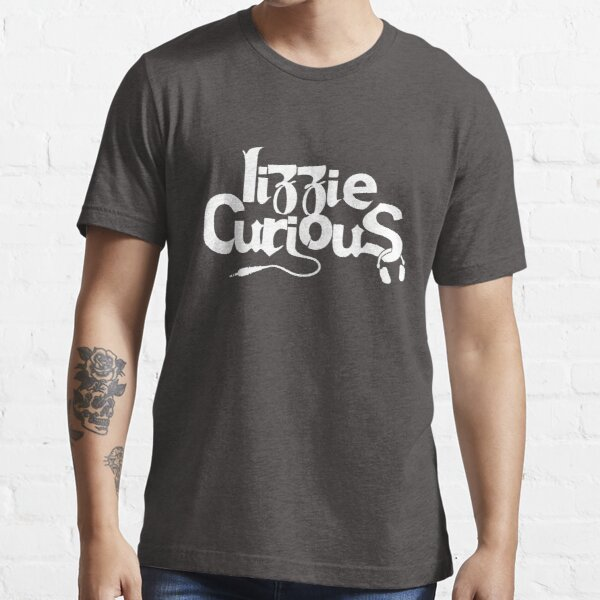 Lizzie Curious Logo (white) Essential T-Shirt