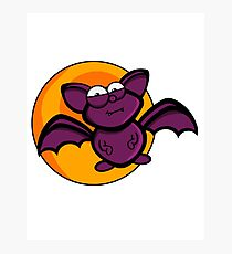 Cartoon Bat Photographic Print