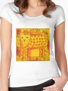 Patterned Leopard Women's Fitted Scoop T-Shirt