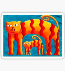 Curved Cats Sticker