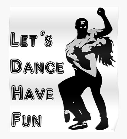 let's dance have fun - dancing couple Poster