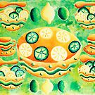Lemons and Limes with Bowls by Julie Nicholls