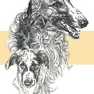 Borzoi by BarbBarcikKeith