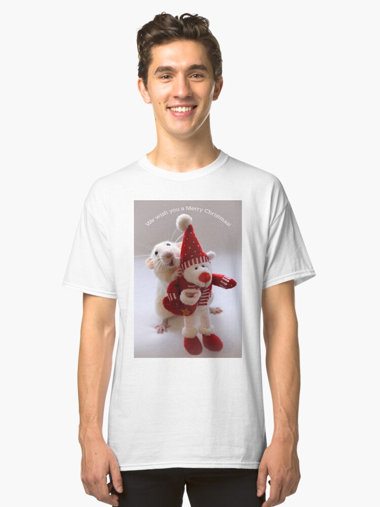 Alternate view of Wishing you all a Merry Christmas! Classic T-Shirt