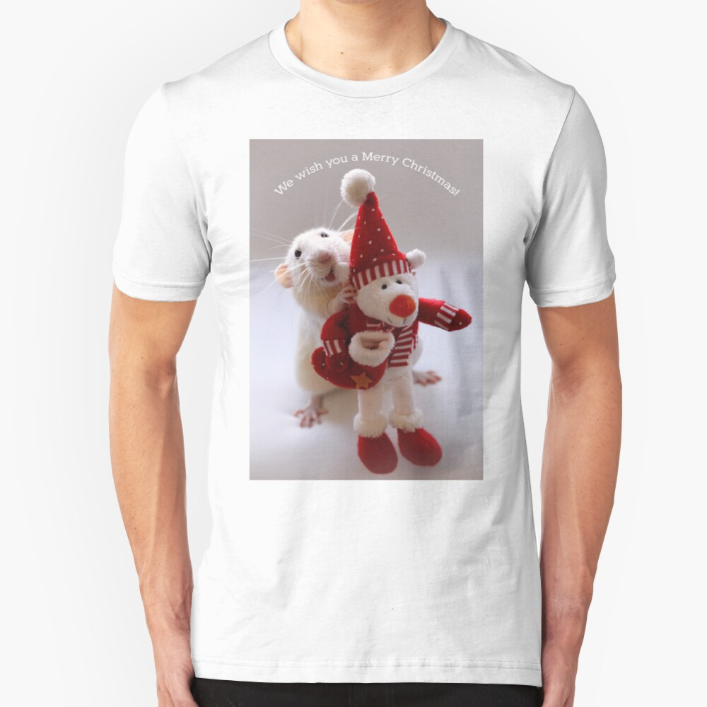Wishing you all a Merry Christmas! Slim Fit T-Shirt