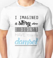 distressed damsel? I don't think so Unisex T-Shirt
