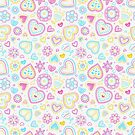 Cute Heart & Flowers Pattern by Anaa