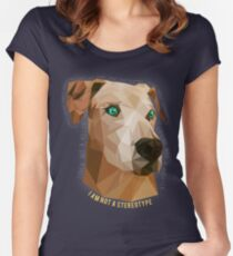 Pit Bulls - Not A Stereotype  Women's Fitted Scoop T-Shirt