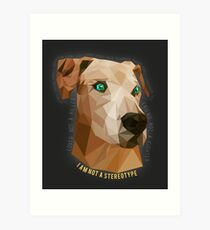 Pit Bulls - Not A Stereotype  Art Print