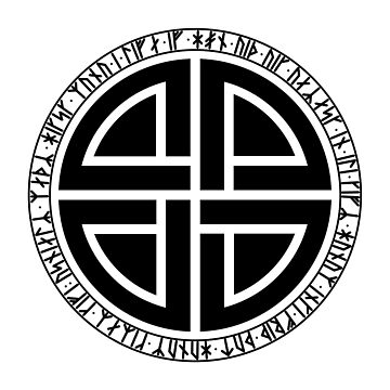 Viking shield knot with younger futhark runes by s3w4g3