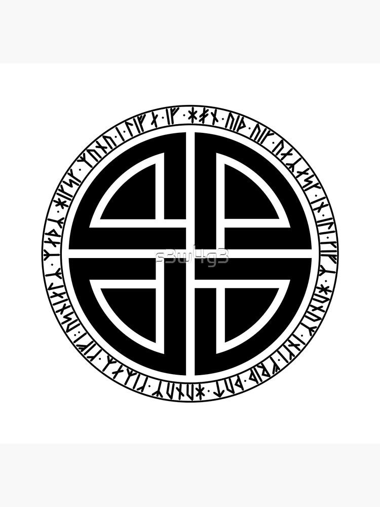 Viking Shield Knot With Younger Futhark Runes Tote Bag By S3w4g3 Redbubble