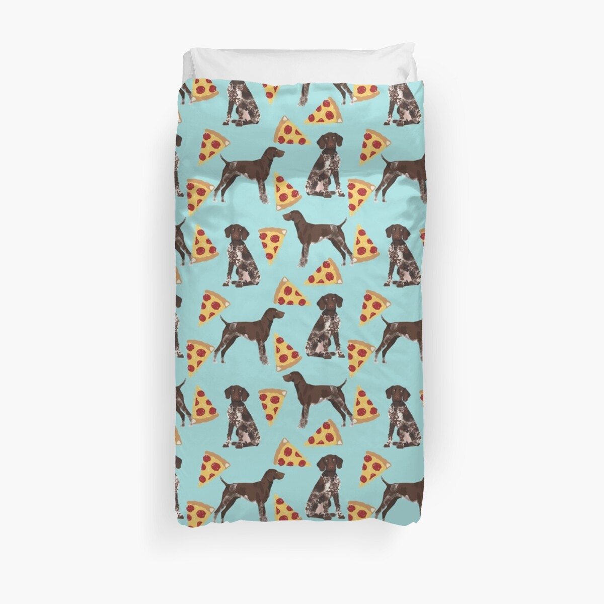 German Shorthair pointer dog breed gifts pizza slice funny dog art ...