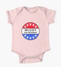 McCOY FOR PRESIDENT One Piece - Short Sleeve