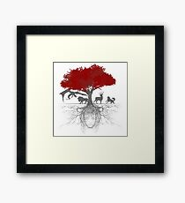 Three-eyed raven tree Framed Print