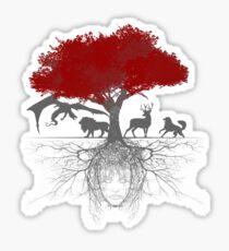 Three-eyed raven tree Sticker