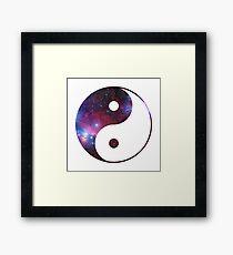 Ying and yang galaxy Framed Print