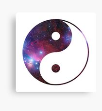 Ying and yang galaxy Canvas Print