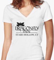 Dragonfly Inn shirt - Gilmore Girls, Stars Hollow, Lorelai, Rory Women's Fitted V-Neck T-Shirt