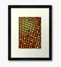 Red Color Blind; Abstract Digital Vector Art Framed Print