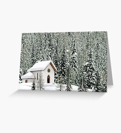 """White Christmas"" in Misurina - Italy Greeting Card"